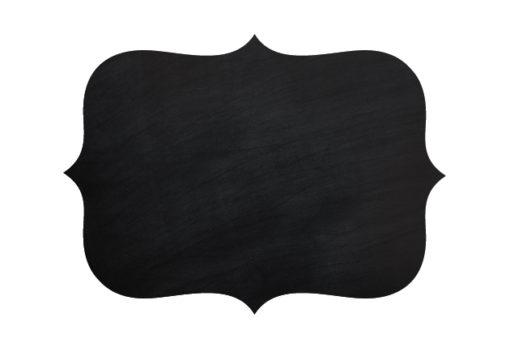 Chalkboard Vinyl Vintage Shape Twiggy